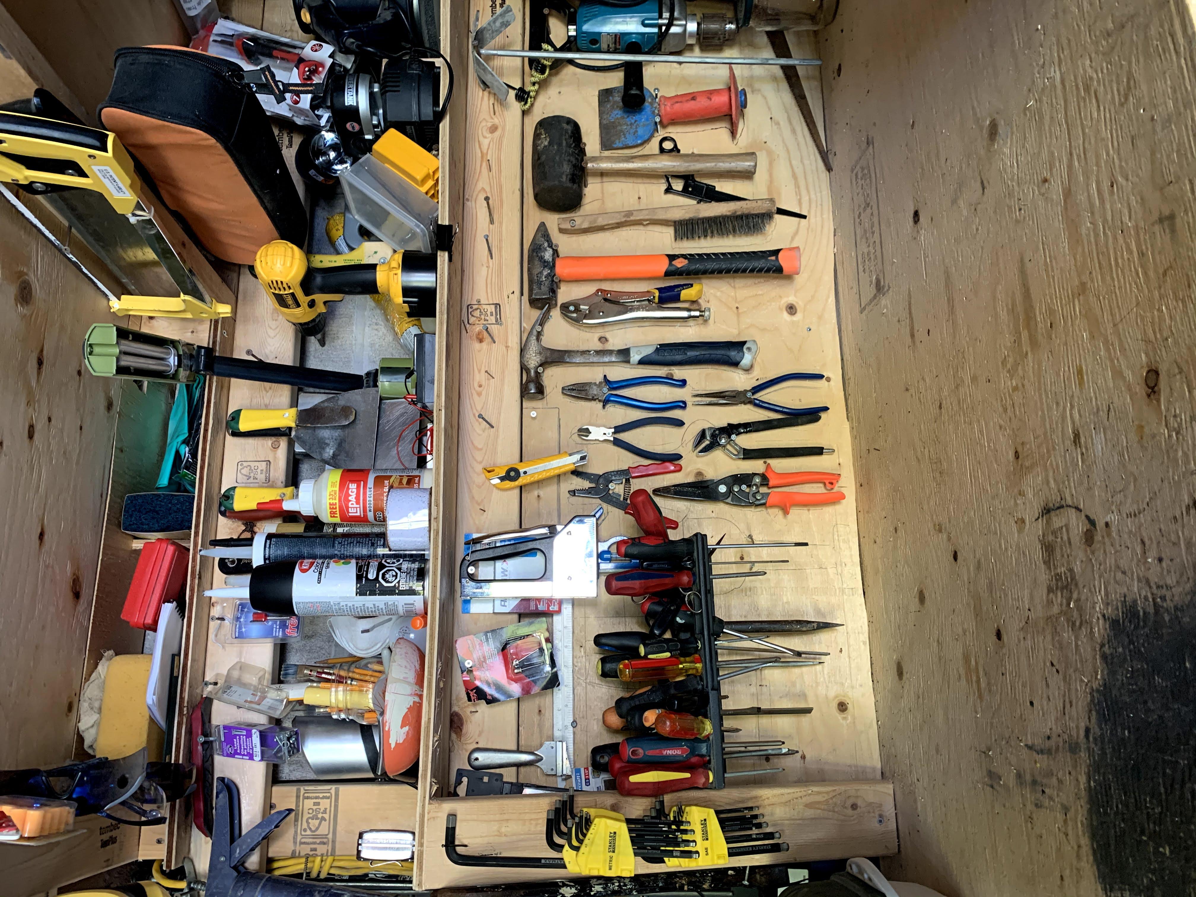 pegboard organization in garage