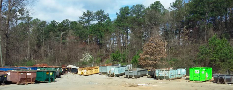 dumpster rental and storage container in The Woodlands, TX