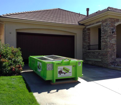 dumpster rental and storage container in Castle Rock, CO