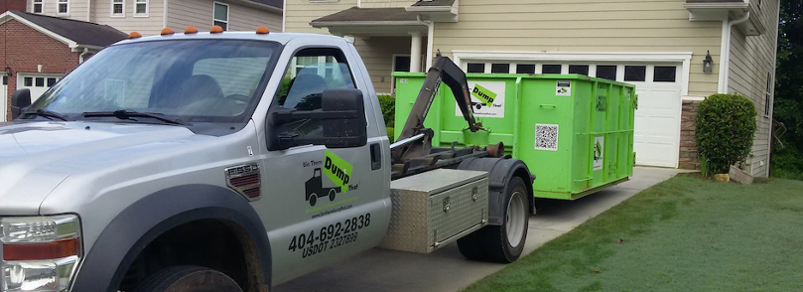 Bin There Dump That dumpster rentals fit conveniently in residential driveways