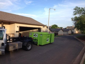 Dumpster Delivered to Atlanta Home