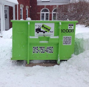 a dumpster rental will conveniently fit in most driveways