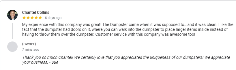 Bin There Dump That Charlotte Customer Review