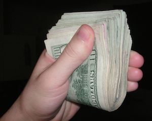 handful of cash