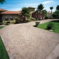 beautiful paver stone driveway and home in Arizona