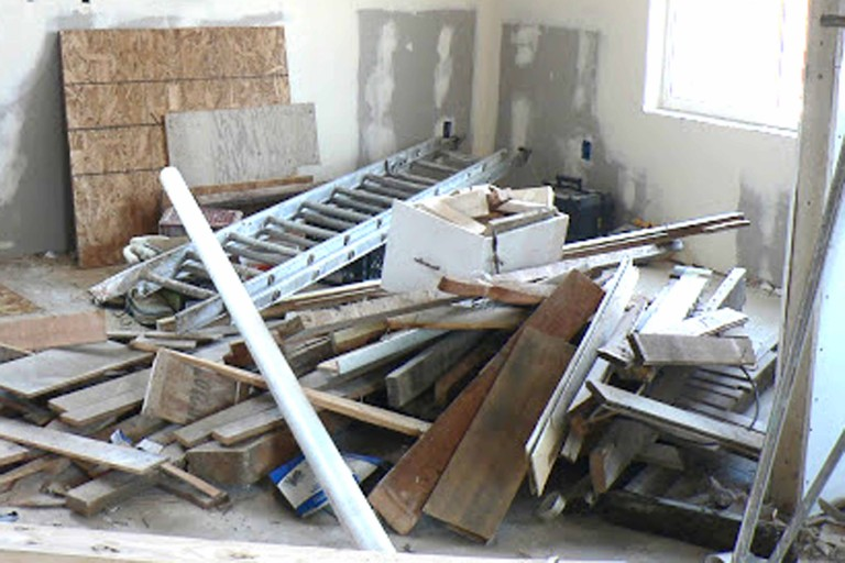 Construction Debris During Remodel