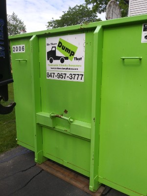 dumpster rental in garage in lombard illinois