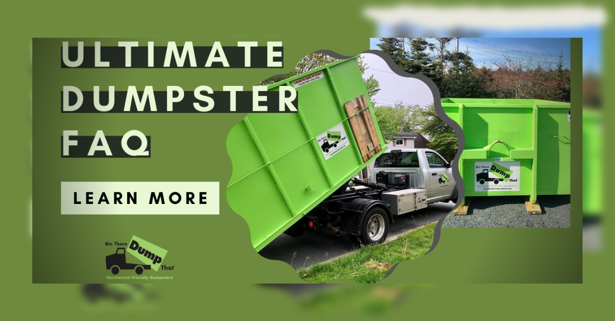 Ultimate Dumpster Rental FAQ