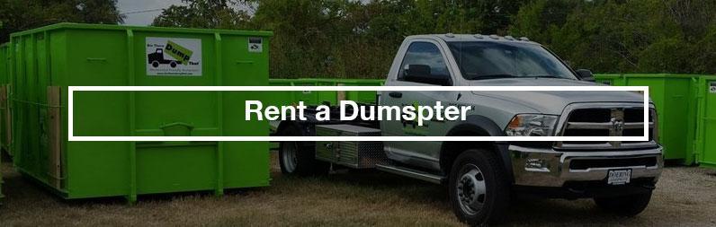 rent a dumpster estate sale