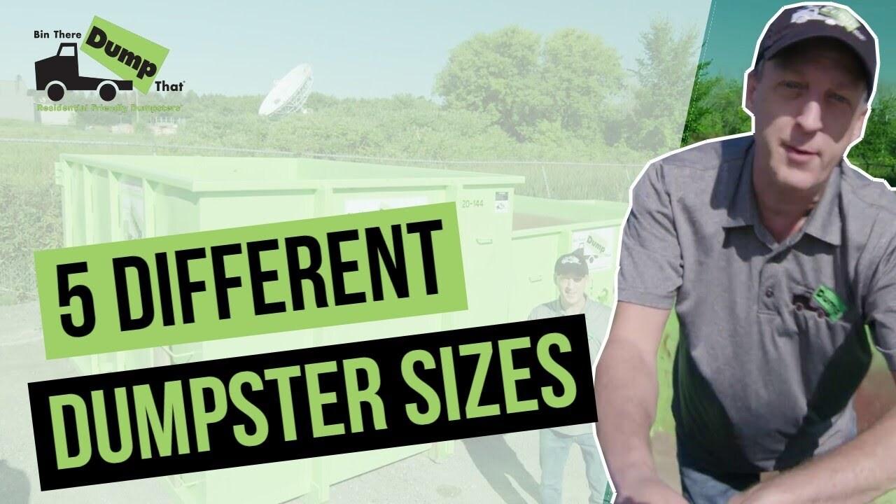 RR Dumpster Size Video