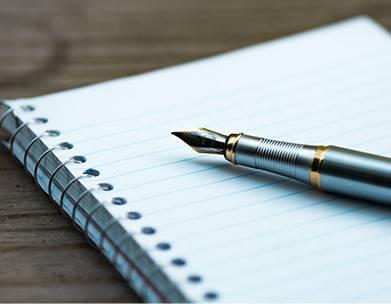 pen and paper estate sale