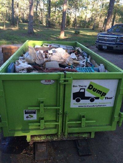 Full 6 Yard Dumpster