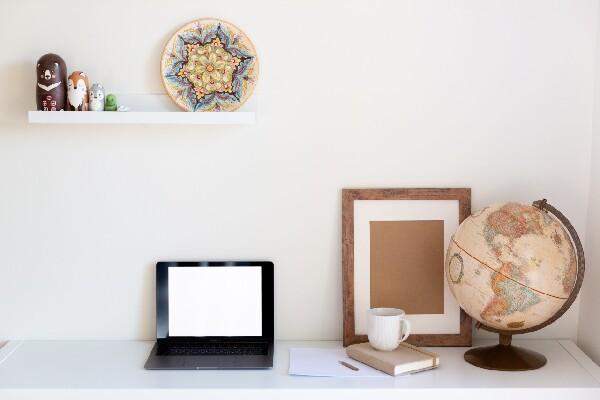 home desk shelf