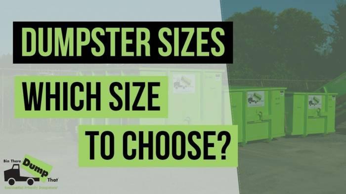 Dumpster Size Video