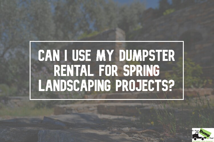 Can I Use My Dumpster Rental for Spring Projects