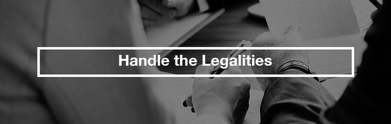 handle the legalities estate sale