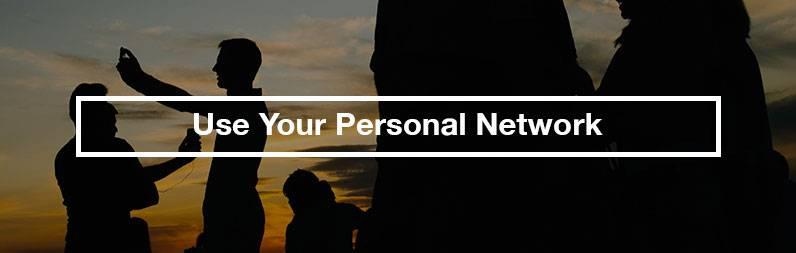 use your personal network estate sale