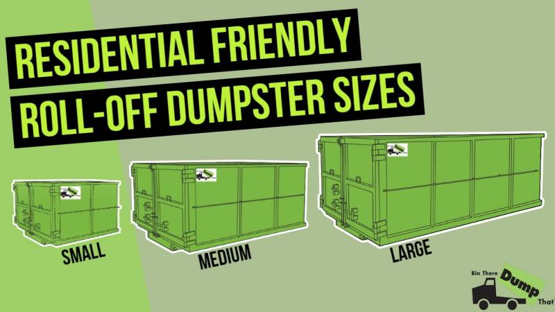 Dumpster Sizes From Bin There Dump That