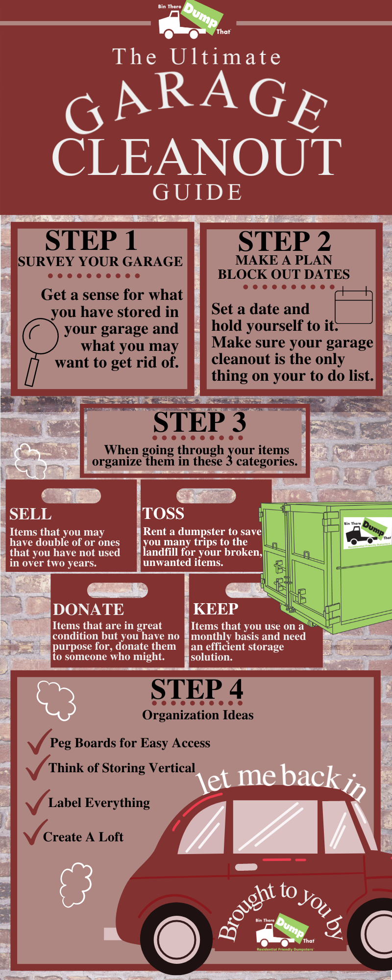 Garage Cleanout Infographic By Bin There Dump That